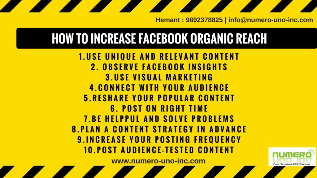 how to increase Facebook Page organic reach