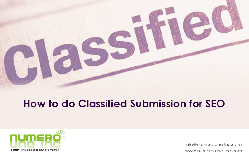 How to do Classified Submission in SEO