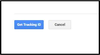 Google analytics Step3: Click on get tracking id