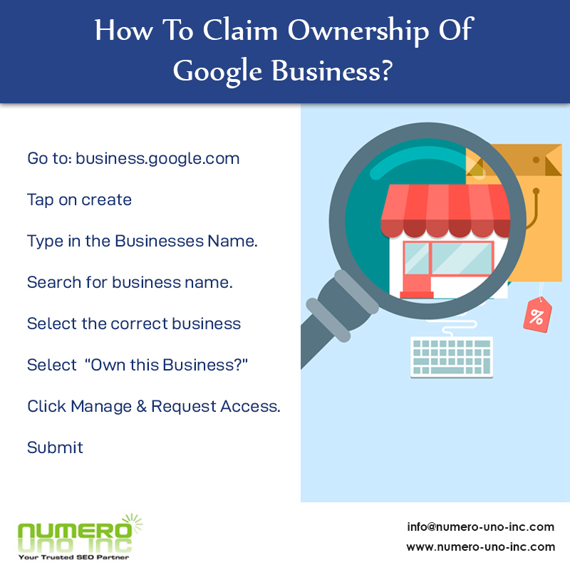 How To Claim Ownership Of Google Business