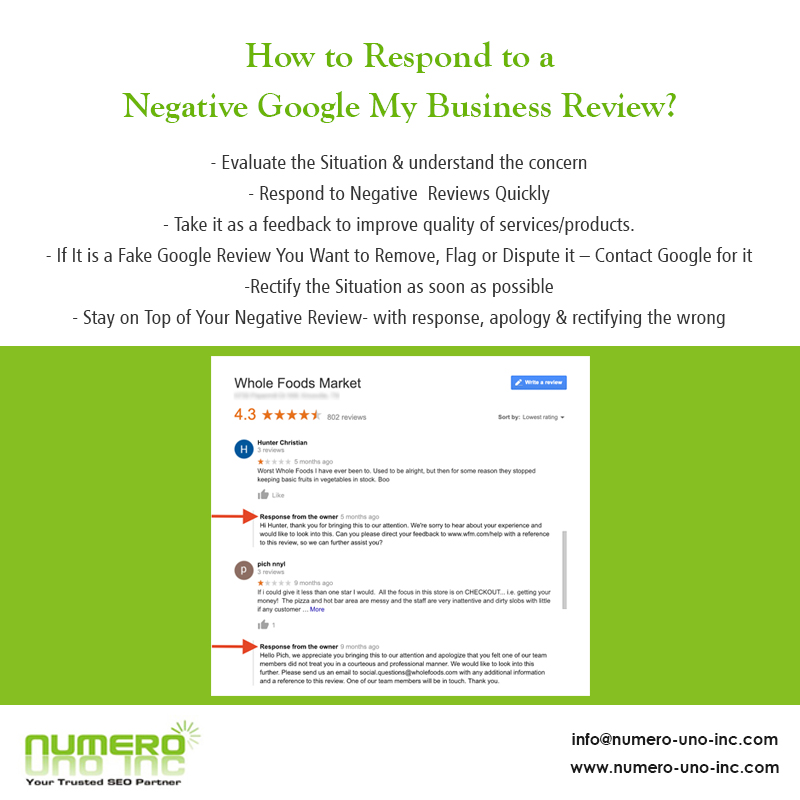 How to Respond to a Negative Google My Business Review