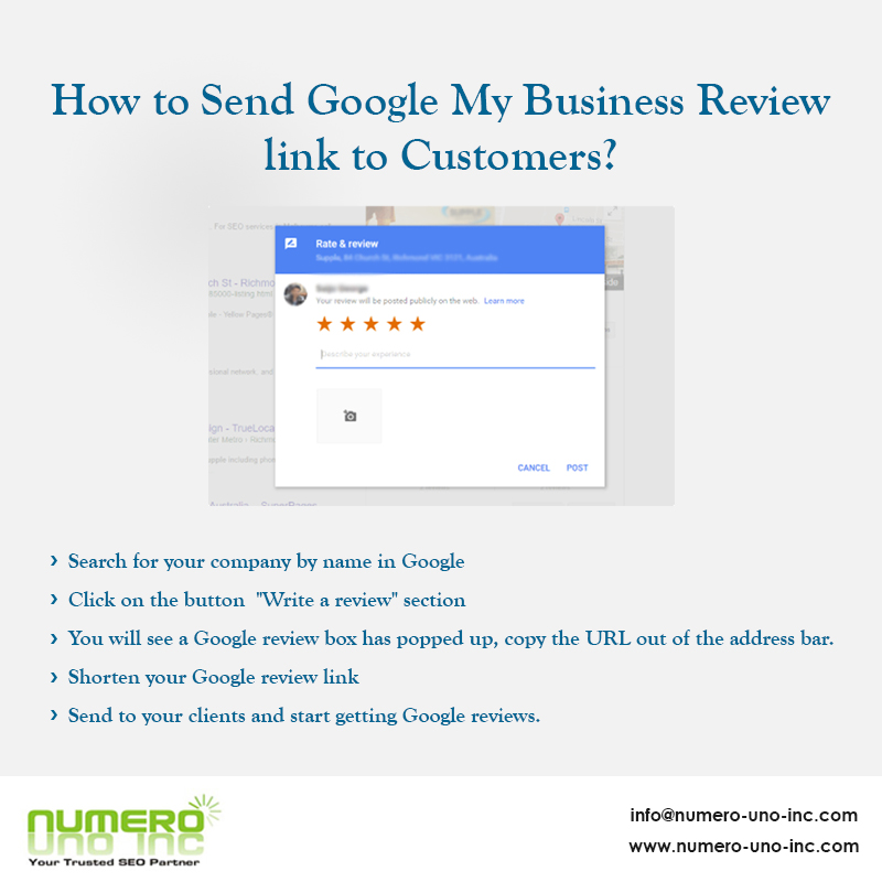 How to Send Google My Business Review link to Customers