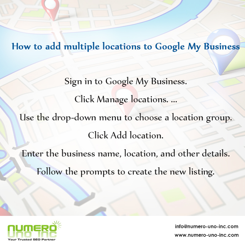 How to add multiple locations to Google my business